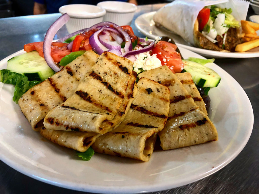 Greek Salad with Chicken Gyro