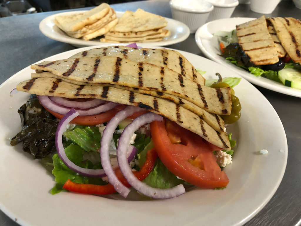 Greek Salad with Chicken Gyro2